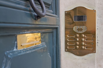 doorbell, intercom and letterbox