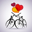 Vector Valentine card with two bicycles