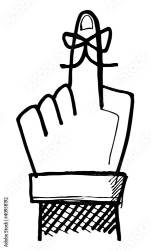 Hand Drawn Finger Reminder