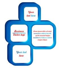 3D blue square group