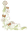 Ranke, flora, Blume, Blüte, Schmetterlinge, orange, grün