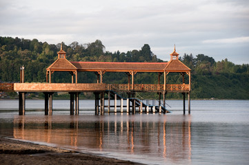 Pier at Lllanquihue lake, Frutillar (Chile)