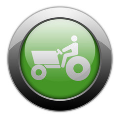 "Green Metallic Orb Button ""Tractor"""