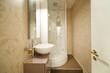 Modern shower, interior bathroom