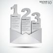 Detaily fotografie pohlednice menu s 3 možností. ideální pro použití web
