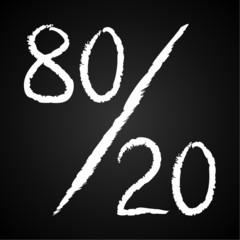 Blackboard, 80-20-Regel