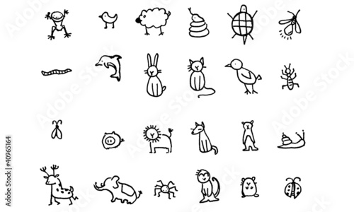 Animal icon in simple ink line