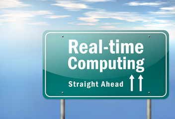 "Highway Signpost ""Real-time Computing"""