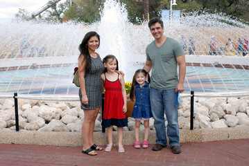 Family At an Amusement Park