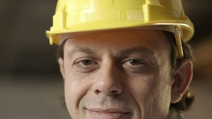Man working as architect, engineer in construction site