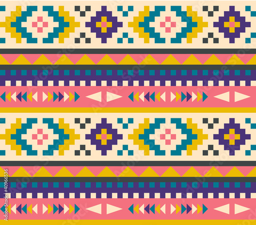 Wall mural Seamless aztec pattern