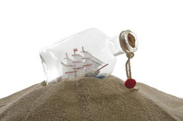 sailcloth ship in bottle