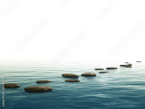 step stones background