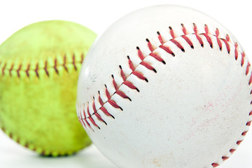Two softballs