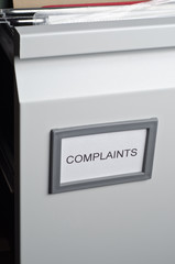 Complaints Files in Drawer