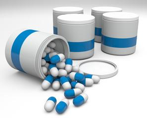 barattoli con pillole