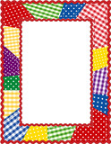 Patchwork Quilt Frame, copy space, rickrack border