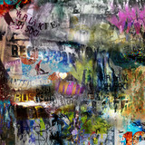 Fototapety grungy style torn poster background