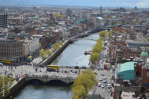 Poster Dublin City Scape