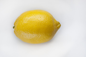 Whole Lemon Isolated on White Background