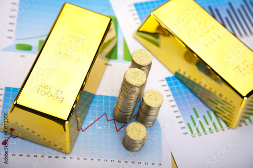 Financial indicators,Chart, Gold bar