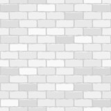 Seamless vector white brick wall - background pattern for contin
