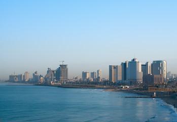 Morning view of Tel Aviv seaside, Israel