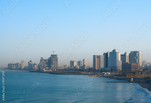 Morning view of Tel Aviv seaside, Israel