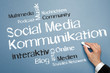 Social Media Kommunikation Tag Cloud