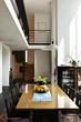interior modern house , comfort  dining room