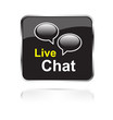 Live Chat Button schwarz