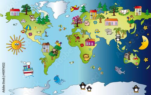 Zdjęcia na płótnie, fototapety na wymiar, obrazy na ścianę : World map