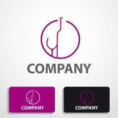 Stylized logo wine # Vector