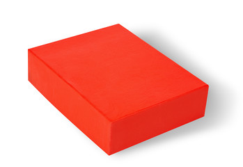 Red box on white