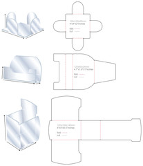 set plastic stand templates