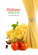 Italian Pasta with tomatoes, paprika and basil