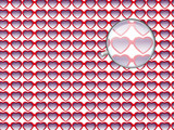 Lunettes coeur monocle poster