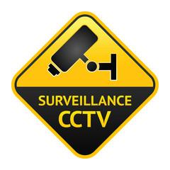 CCTV sign, video surveillance label