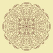 Round lace floral pattern