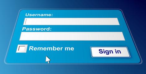 Secure login page.