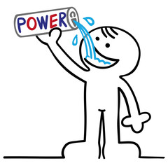 figur mit energydrink