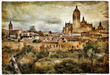 Segovia - medieval city of Spain - artistic picture