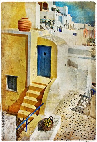 Obraz colors of Santorini -artistic picture