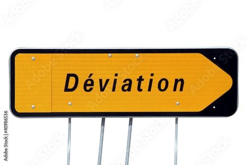 Panneau de déviation à talon cache flèche