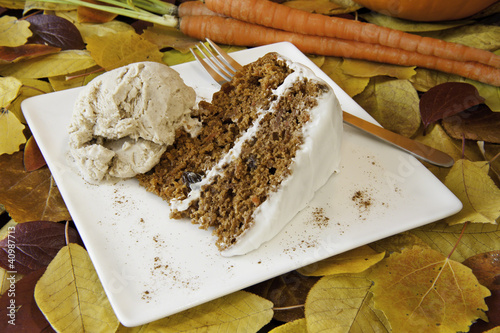 Autumn Carrot Cake and Ice Cream