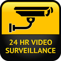 Video surveillance sign, cctv sticker