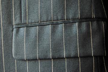 Nadelstreifen - Detail eines schwarzen Anzugs