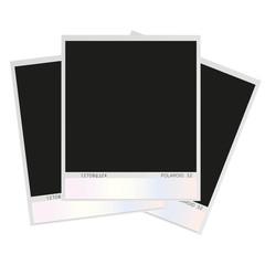 collage of old polaroid photos vector illustration