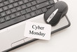 Cyber Monday Note with Mouse and Computer