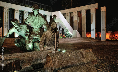 Warsaw Uprising Monument by Night #3 - 40991720